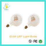 Luz da decoração do filamento do diodo emissor de luz da prata do cromo de G150 E40