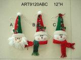 """"""" Noël Santa de H 12 et décoration principale Gift-3asst de bonhomme de neige"""