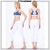 Женщины высокого качества оптовые Non видят до конца белые кальсоны йоги с панелью сетки