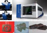 Machine de découpage optique de laser de fibre de tôle de fournisseur de la Chine pour l'acier inoxydable de carbone