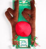 Antler da decoração do carro do Natal da cor de Brown