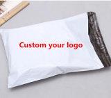 Bolso plástico del poste del anuncio publicitario polivinílico blanco de encargo usable del color