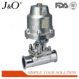 Válvula de diafragma apertada pneumática sanitária do aço inoxidável