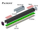 Sistema di illuminazione lineare della barra chiara del negozio LED della scaffalatura di vendita al dettaglio del magnete Vati-180-60