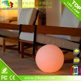 Colore di telecomando che cambia la sfera della plastica del giardino della sfera del LED