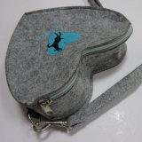 Sac d'emballage portatif respectueux de l'environnement de main d'achats de feutre de laines avec le traitement