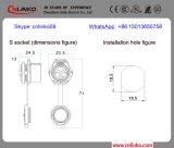 Plastikweiblicher Verbinder der Größen-M16 des weibchen-Plug/9pin