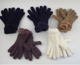 Wärmste Winter-Jacquardwebstuhl-Handschuhe mit Pelz