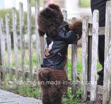 Manteau en cuir PU / Vêtements pour petit chien (KH0036)