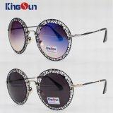 Óculos de sol do aço inoxidável da senhora com parte dianteira oca (KS1245)
