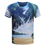 T-shirt fait sur commande de polyester d'impression d'impression Allover de Digitals