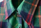 方法女性の衣服のための長い袖の小切手のフランネルの女性のワイシャツ