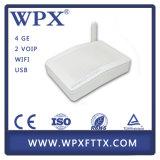 FTTH ONU 4GE WiFi GPON avec 2pots / Voice