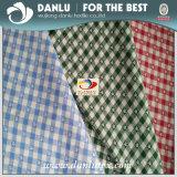 100% hilado de algodón teñido de tela Jacquard Plaid para la camisa