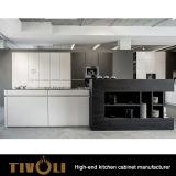 積層のベニヤFinishe Tivo-0287hが付いている台所のためのカスタムキャビネット