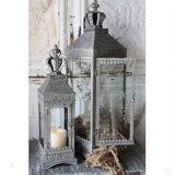Сбор винограда шнурка кроны стекло металла верхнего ретро серое установило держатель для свечи 2