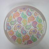 Bambusfaser-Tellersegment-rundes Umhüllung-Tellersegment-Paisley-Entwurfs-Tafelgeschirr