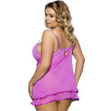 L'arrivée la plus tardive sexy mûrissent plus les vêtements pourprés de Babydoll de Cupless de taille