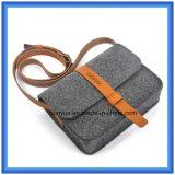 Bolso ocasional sentido lanas modificado para requisitos particulares del mensajero del diseño simple, bolso de hombro de las compras del regalo de la promoción con la correa de cuero ajustable
