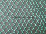 Темнота полиэтилена - зеленый цвет завязанная рыболовная сеть