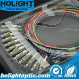 12의 색깔 광섬유 떠꺼머리 LC Om1 Om2 0.9mm