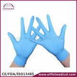 Перчатки рассмотрения нитрила медицинского устранимого порошка свободно