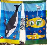 Полотенце 100% пляжа Velevt хлопка (BT-CS1001)