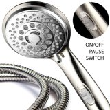 Shower-Head Ультра-Роскоши 7-Setting Handheld с запатентованным включено-выключено переключателем перерыва (почищенными щеткой никелем/кромом)