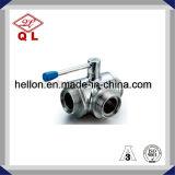 3A de sanitaire Roestvrij staal Gelaste Kogelklep van het Type van Vlinder