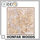 Moderner Stadt-Karten-Wand-Kunst-Farbanstrich für Hauptdekoration