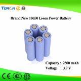 Batterie profonde initiale du lithium 18650 de la qualité 3.7V 2500mAh de batterie de pouvoir de cycle