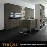 Новый шкаф кладовки кухни с островом кухни Tivo-0298h
