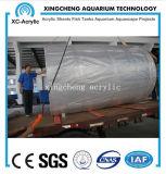 Proyecto material de acrílico modificado para requisitos particulares del tanque del tiburón del túnel grande del acuario