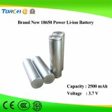 Глубокая батарея лития 18650 качества 3.7V 2500mAh батареи силы цикла