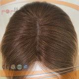 Da pele branca natural escura de duas raizes da cor de tom peruca judaica superior de seda