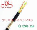 Câbles d'U/UTP Cat5e et fils/câble d'ordinateur/câble de caractéristiques/câble rempli extérieur de transmission/câble/connecteur sonores