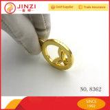 Gold, das ringsum Kreis-Namensmarke poliert