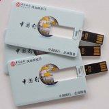 De alta calidad de la tarjeta de crédito USB Flash Drive libre impresión de la insignia (TF-0422)