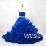 Vestido de casamento inchado nupcial Dz510 de Tulle dos vestidos de esfera da nuvem de cristal