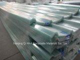 La fibre de verre ondulée de panneau de FRP/toiture transparente en verre de fibre lambrisse W171017