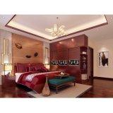 Rote Kirschluxuxschwingen-Tür-Wandschrank für Schlafzimmer-Set