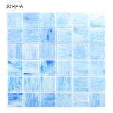 mosaico di vetro blu della spiaggia della pavimentazione della stanza da bagno delle mattonelle 2X2