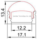 Perfil de alumínio Recessed do diodo emissor de luz com lente