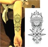 Sticker van de Tatoegering van de Kunst van de Sticker van de Tatoegering van de Totem van de Doorn van de manier 3D Tijdelijke