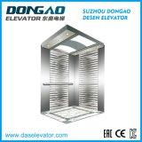 Piccolo ascensore per persone economico della stanza della macchina con lo specchio inciso