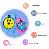 Kind-intelligente Uhren mit Kamera GPS-Standort-Kind-Touch Screen imprägniern Anti-Verloren