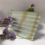 glace de flotteur stratifiée par miroir rose de 8mm+Silk+5mm/verres de sûreté en verre Tempered/pour la décoration