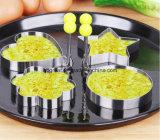 Huevo antiadherente respetuoso del medio ambiente del acero inoxidable que fríe el anillo