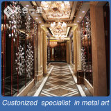 Подгонянная дверь самого лучшего золота Rose металла качества стального стальная для KTV/Hotel
