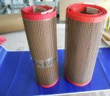 Do engranzamento revestido da fibra de vidro do Teflon de PTFE correias transportadoras reforçadas laterais